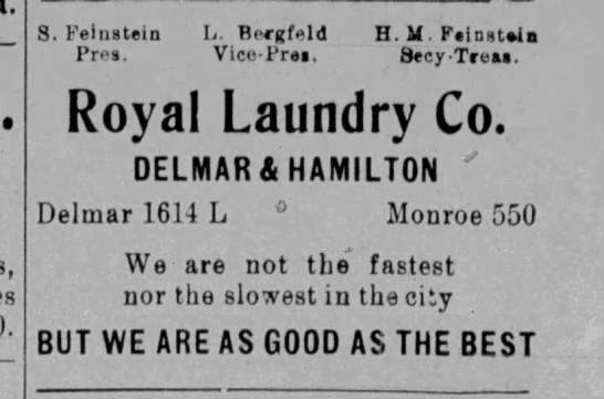 Royal Laundry Advertisement -