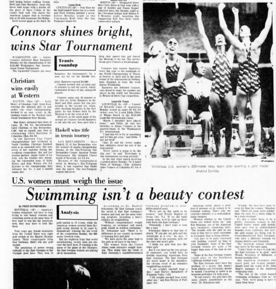 7-27-1976 Swimming Isn't a Beauty Contest with AP WirePhoto -