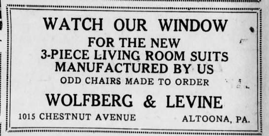wolfberg and levine ad-2 june 1924 -