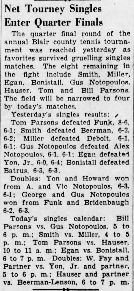 Tennis time-15 July 1936 -