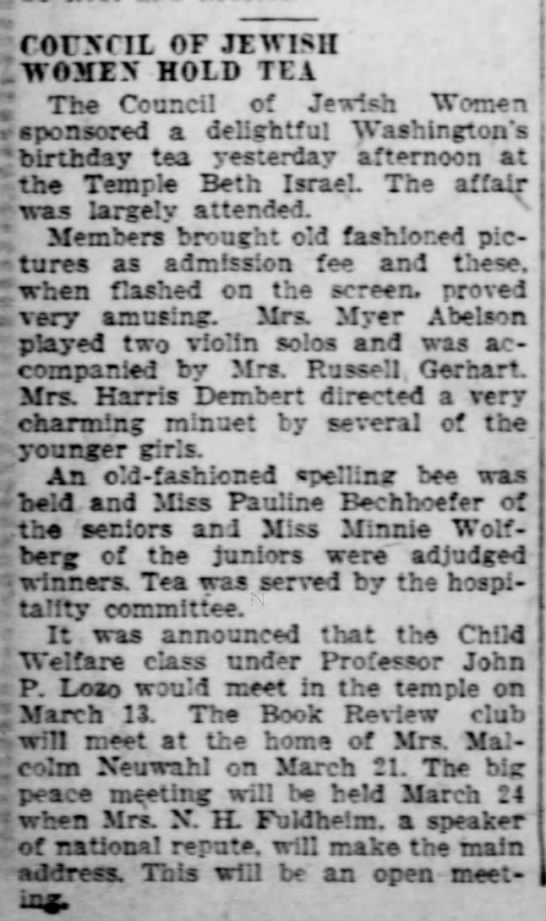 Minnie wins spelling bee-24 Feb 1928 -