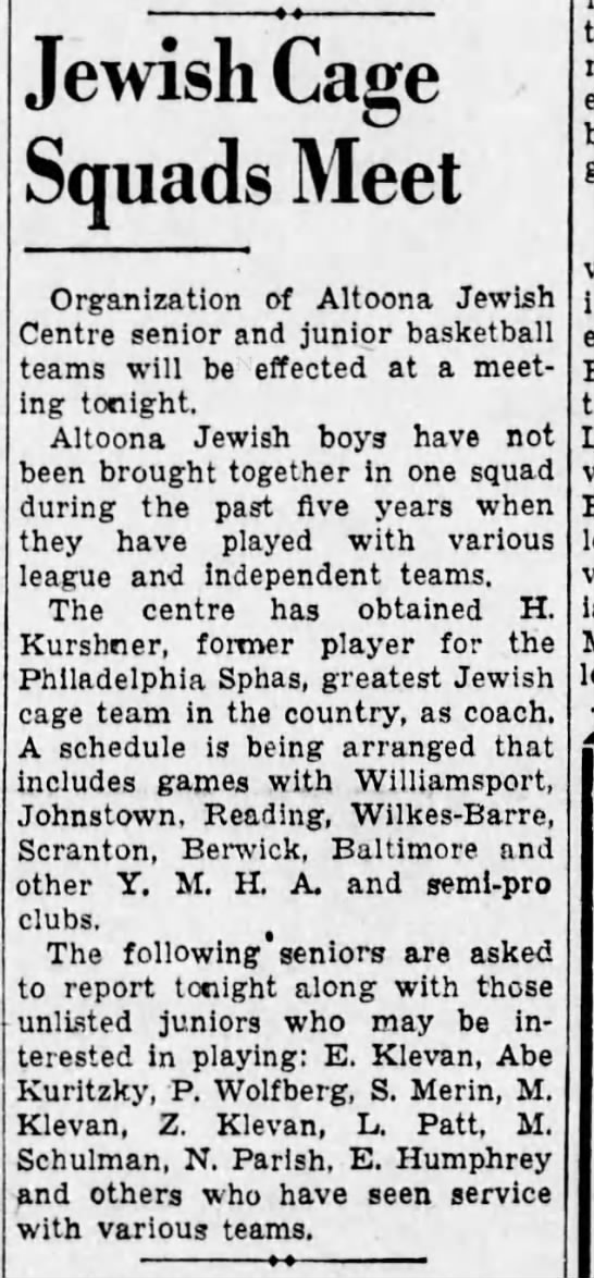 More on basketball-22 Oct 1935 -