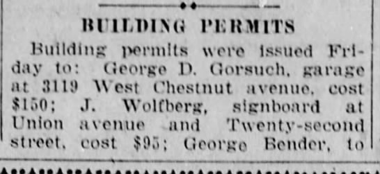 Jacob gets permit for signboard-10 July 1926 -