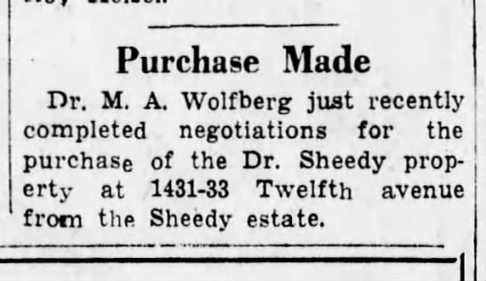 M.A. buys property-6 Nov 1944 -