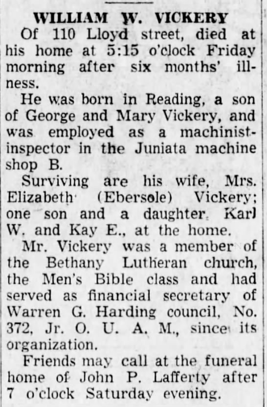 William W Vickery_Altoona Tribune_27 Nov 1948 -