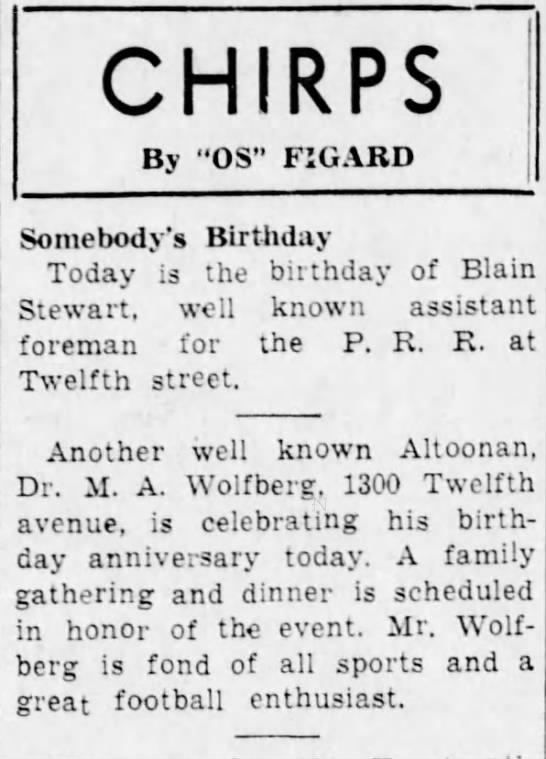 M.A. has a birthday-14 March 1938 -