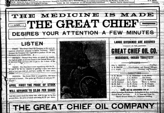 J.C. Fast's Great Chief Oil Co. -