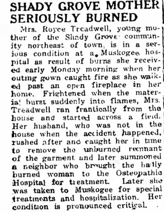 Royce's wife burned