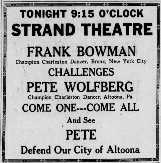 Pete in big Charleston competition-15 April 1926 -