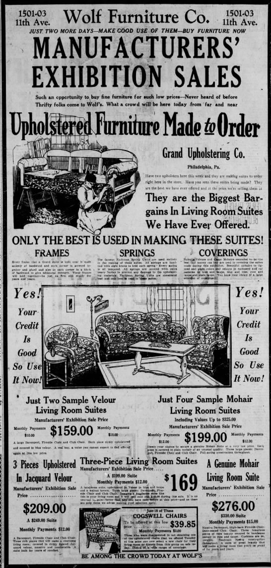 Wolf Furniture as-11 June 1926 -