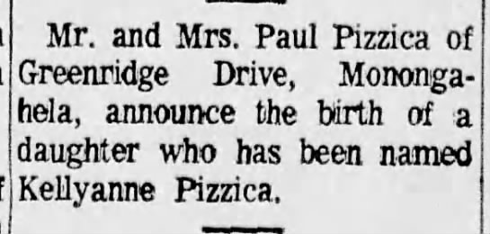 kelli's birth announcement the daily republican 31 may 1969 -