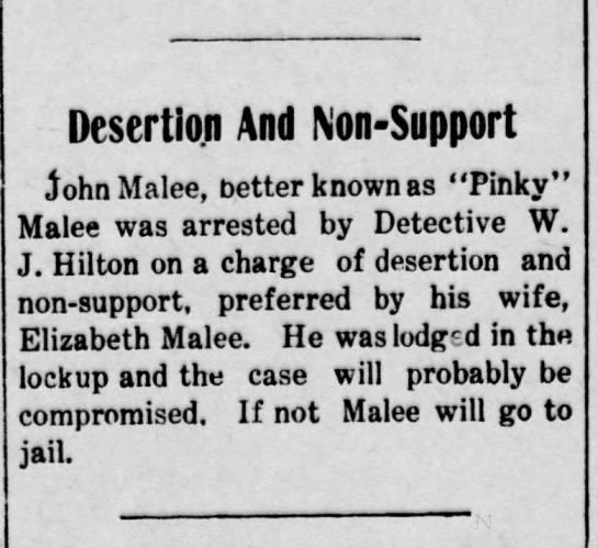 Malee John 1908 -
