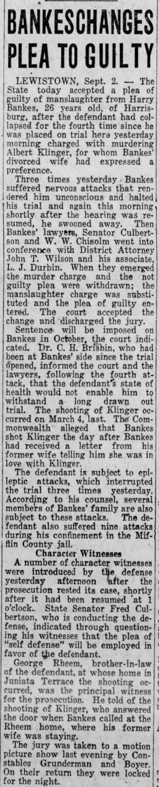 Albert Klinger's killer pleads guilty to manslaughter -
