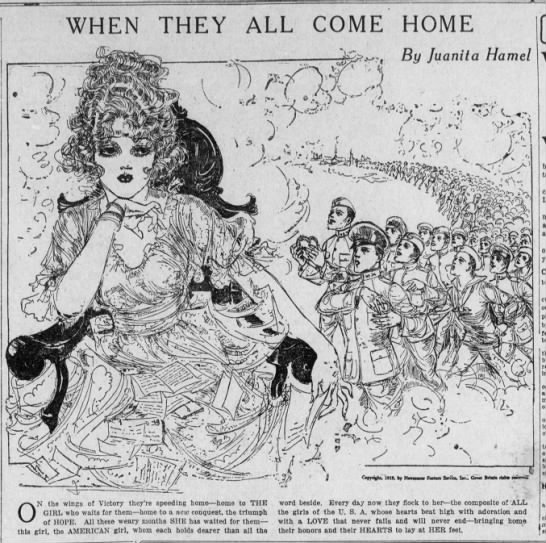 "Juanita Hamel, ""When They All Come Home"" (1919) -"