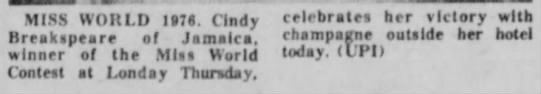 19_November_1976_The_Evening_Review_East Liverpool, Ohio - MISS WORLD I»78. (Indy celebrate* her victory...