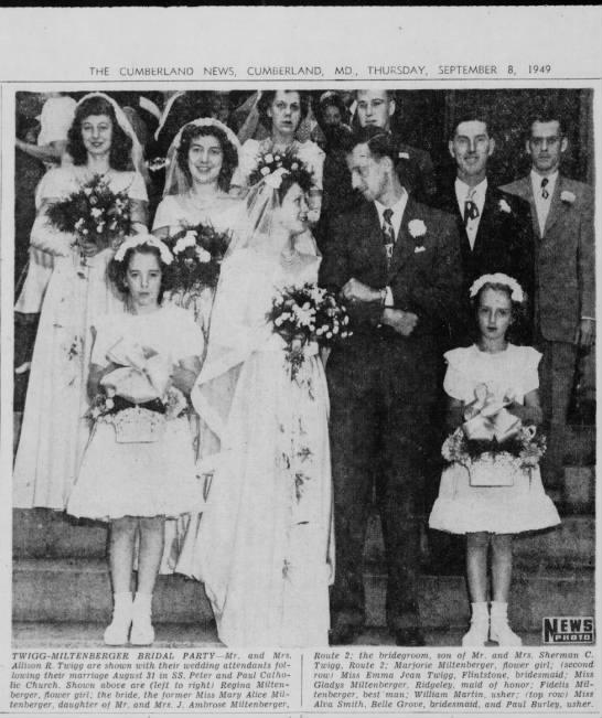 Twigg Miltenberger Wedding Party -