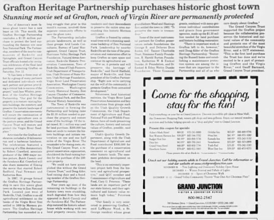 Heritage Partnership purchases Grafton Ghost Town -