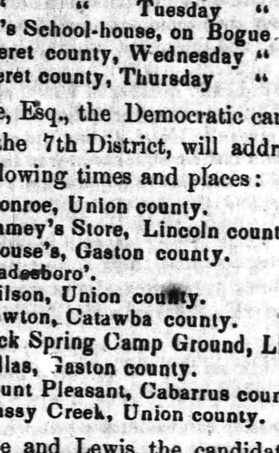 Joseph Stamey's store, Lincoln County, North Carolina -