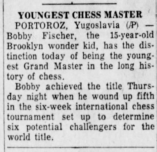 Youngest Chess Master -
