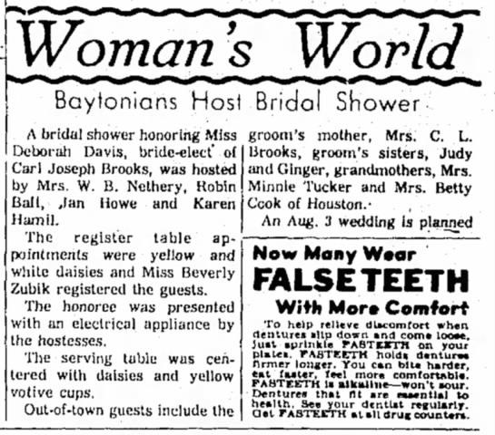 Deborah Davis -- Bridal Shower  -