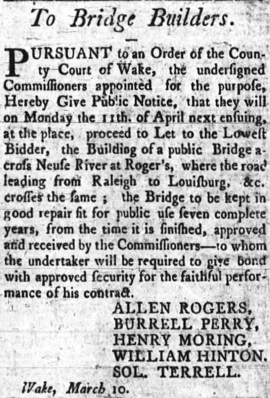 William Hinton ( Bridge Builders) ( 28 March 1803) -