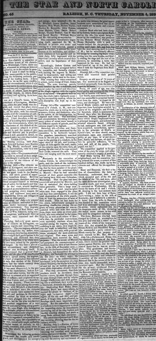 "North-Carolina Star (Raleigh, NC) 5 Nov 1835, p1 - HALEXGE, IT. C. THIJI jJTB 'SSii3b ""TV Mi..."