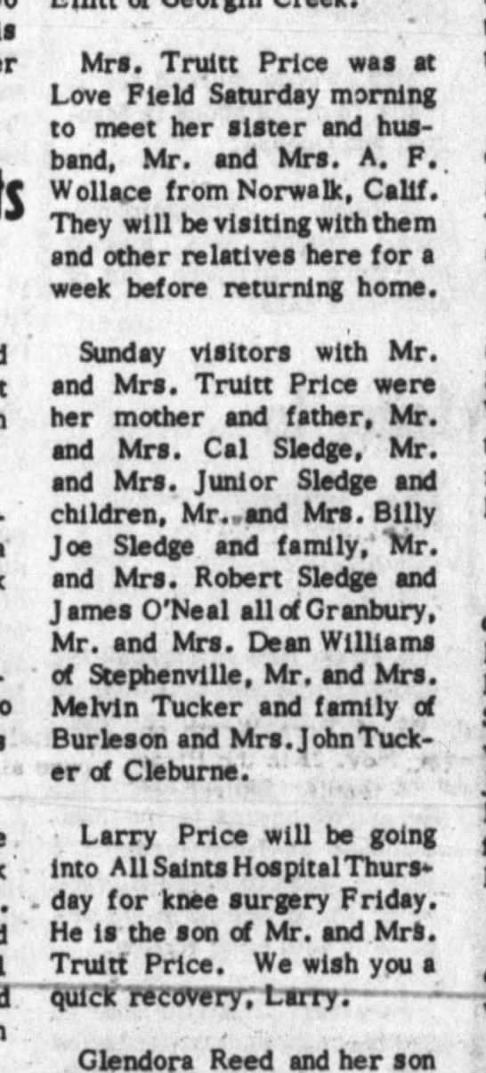 Truitt Price family / Larry Price -