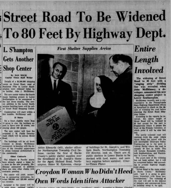 PA 132 to be widened, January 24, 1963 -