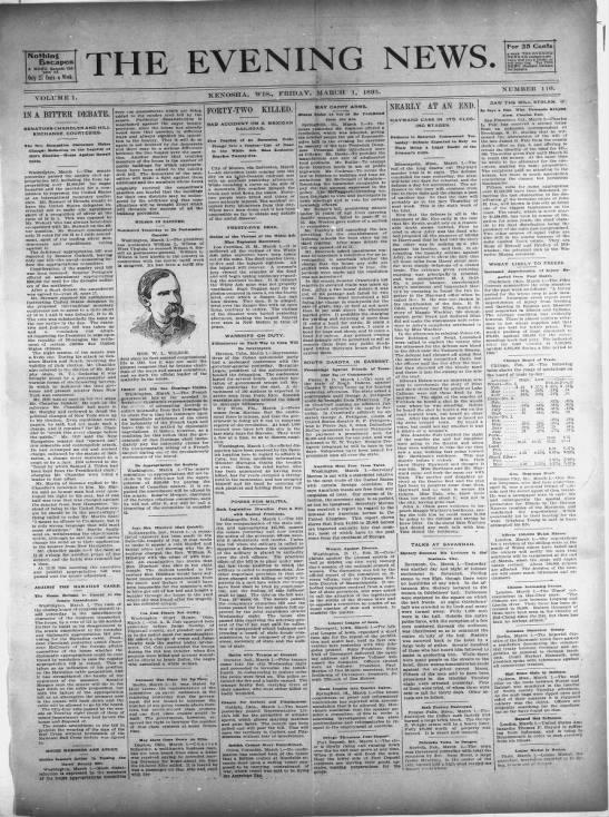 Kenosha News - 1895 -