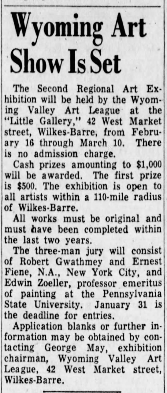 George May - Wyoming Art Show 1962 -