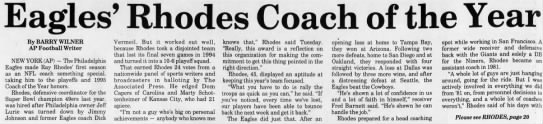 Eagles' Rhodes Coach of the Year -