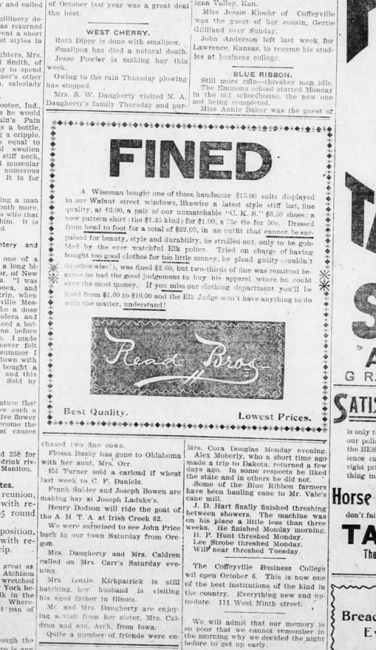 The Coffeyville Daily Journal  19 Sep 1902 -