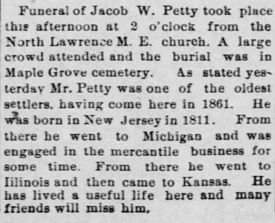 Jacob petty funeral -