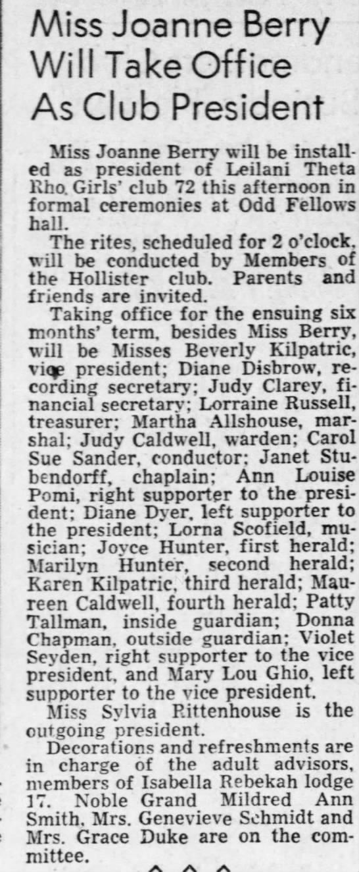 Joanne Berry President -