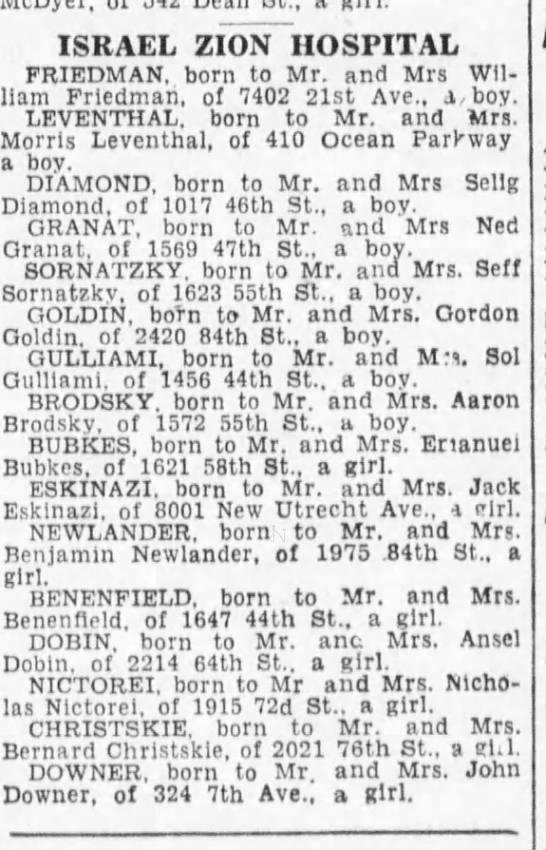 Newlander_girl born to Benj Newlander BDE 1-4-1933 p36 -