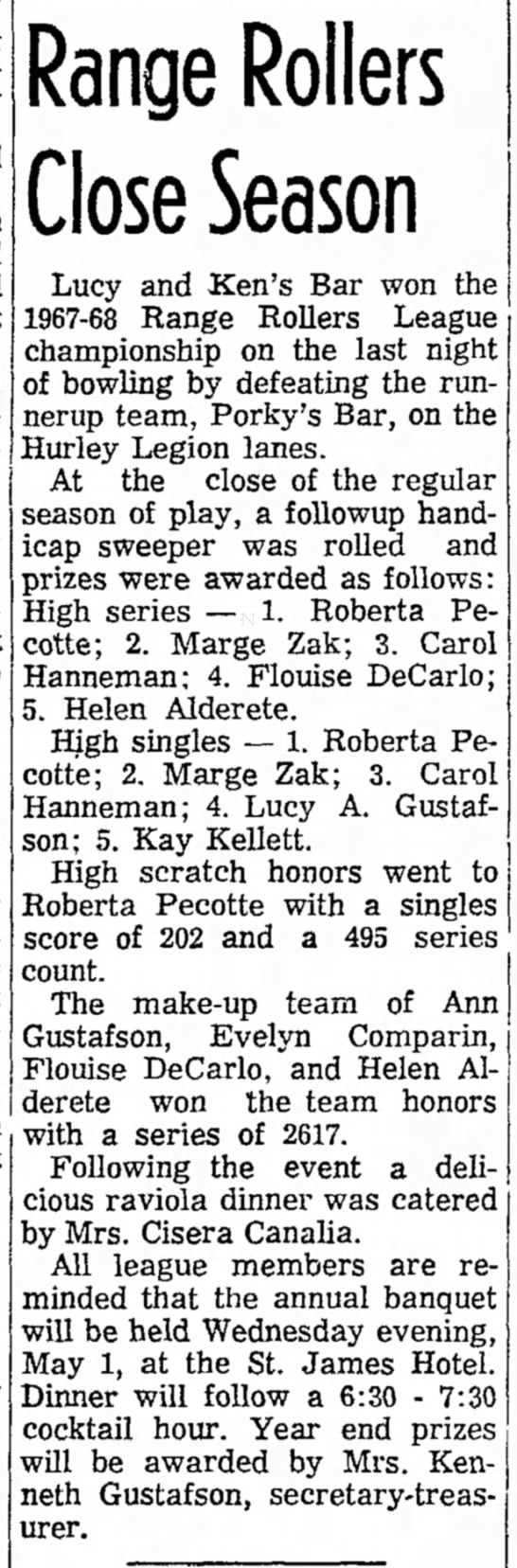 Ironwood Daily Globe,may 1,1968, page 12 -