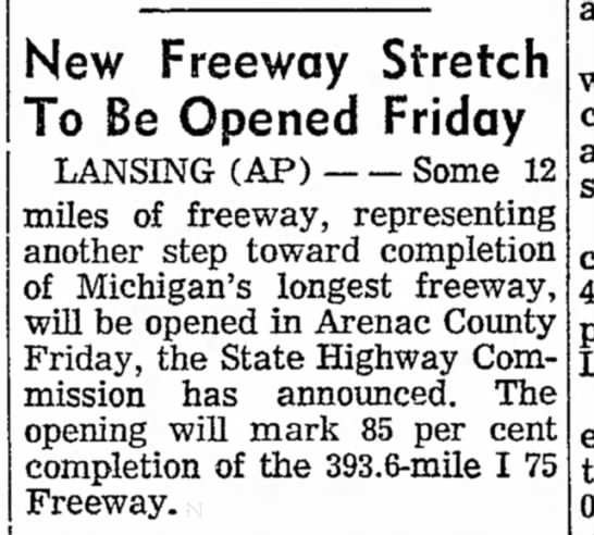 New Freeway Stretch To Be Opened Friday -