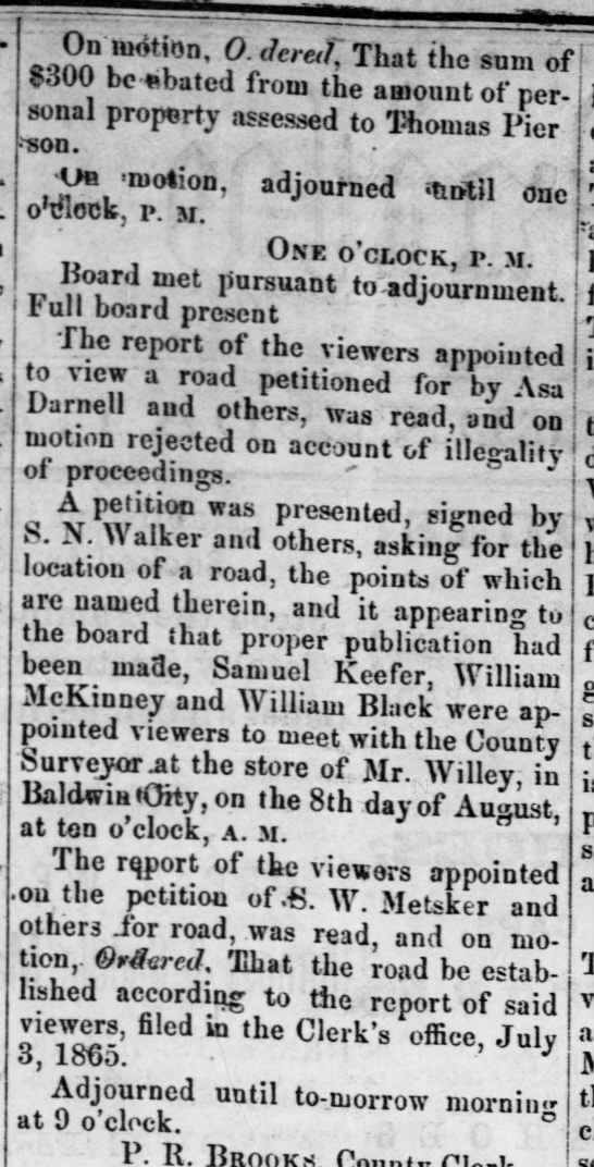 13 July, 1865