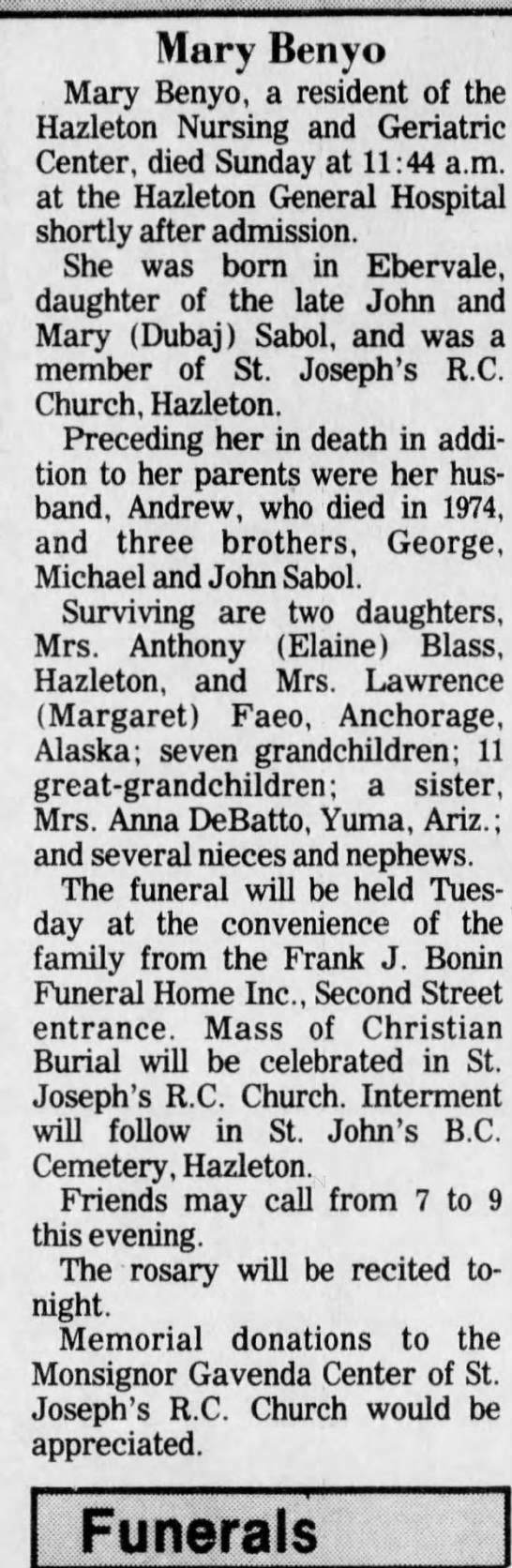 Anna DeBatto Yuma AZ 12 Jun 1989 -