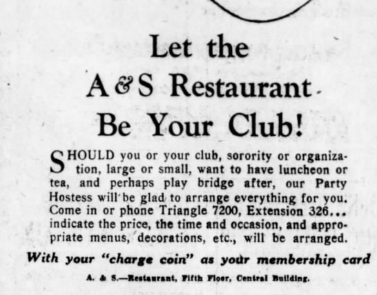 Abraham and Strauss ad brooklyn daily eagle 3 may 1928 -