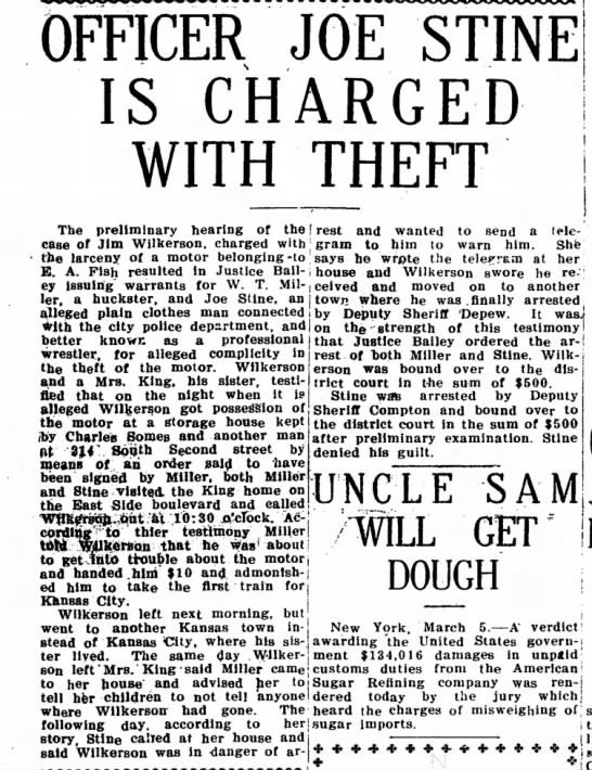 joe stine arrest