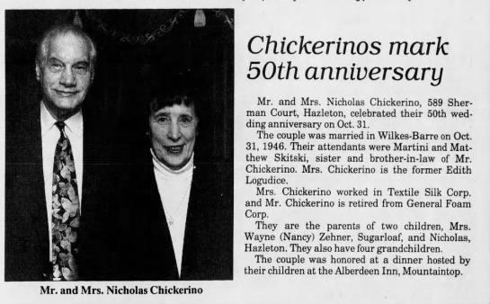 Anniversary - Chickerino's 50th -