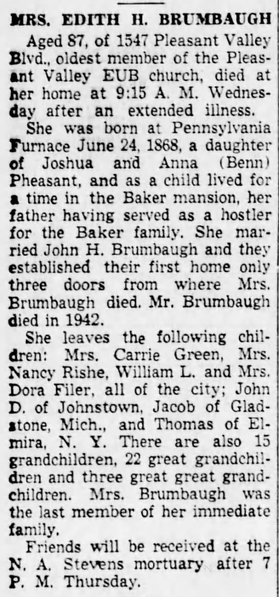 Edith H Pheasant_Altoona Tribune_2 Feb 1956 -