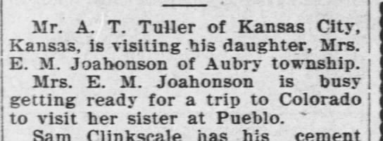 Almond Fuller visits Annie Belle, who's preparing to visit her sister (which?) in Pueblo, CO -