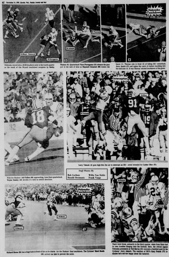 1976 Nebraska-Iowa State photo page 1 -