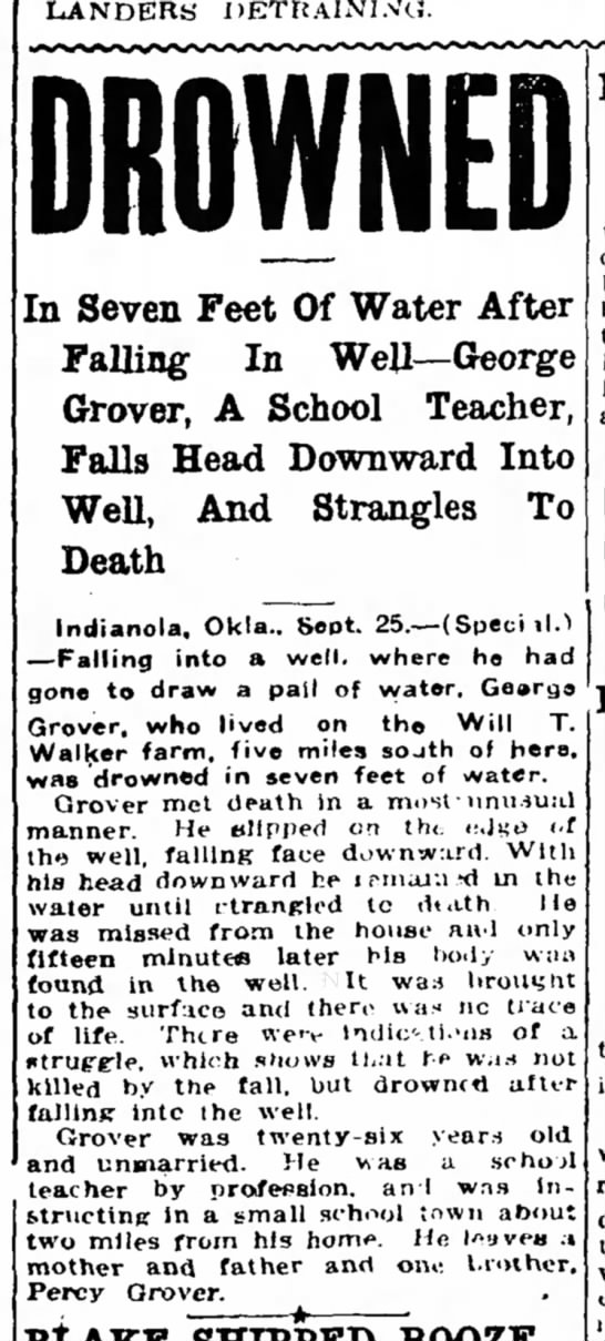 Georger Grover Drowning -