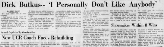 Dick Butkus— 'I Personally Don't Like Anybody' -
