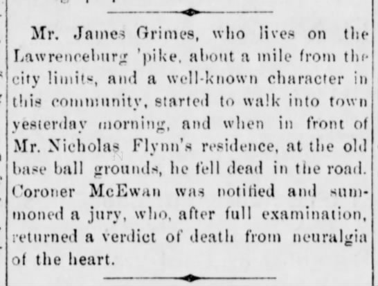 James Grimes Frankfort Weekly Roundabout 19 June 1880 -