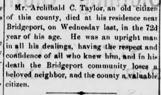 Archibald Taylor Frankfort Weekly Roundabout 10 July 1880 -
