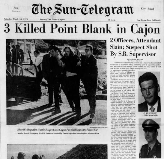 3 Killed Point Blank, Alfred Stewart, The Sun, 10 March 1973 -